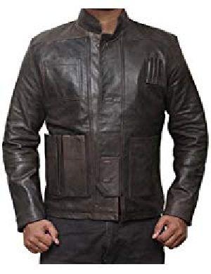 Mens Vintage Lambskin Black Leather Jacket 01