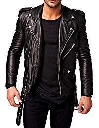 Mens Lambskin Black Leather Jacket
