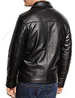 Mens Lambskin Black Leather Jacket 04