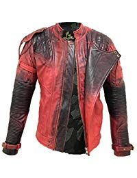 Mens Lambskin Light Red Leather Biker Jacket