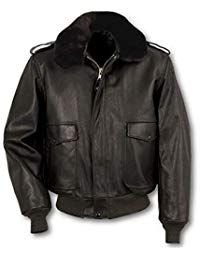 Mens Lambskin Black Leather Bomber Jacket