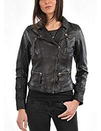 Womens Vintage Black Leather Jacket