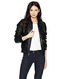 Womens Lambskin  Dim Black Leather Biker Jacket