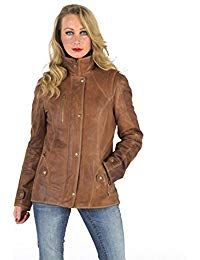 Womens Lambskin Leather Long Jacket