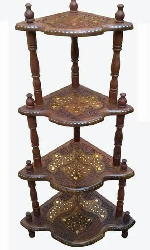 Wooden Corner Table 02