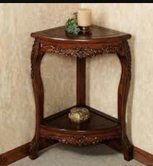 Wooden Corner Table 04