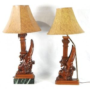Wooden Table Lamp 01