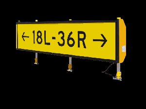 TAXIWAY GUIDANCE SIGNS BOARD