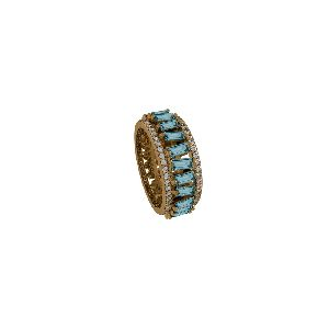 BlueTopaz Eternity Band Ring