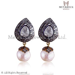 Pearl Gemstone Pearl Earrings