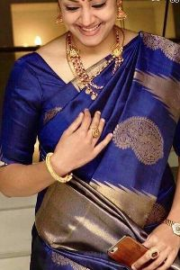 Blue Colored soft silk sarees _SD135
