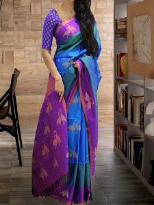 Dashing Multi Color Soft Silk Designer printed Saree - SD597