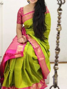 Glorious Green Color Soft Silk Designer Sarees-sd1024