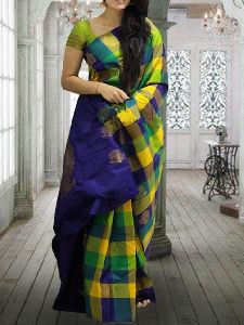 Green color Soft Silk Printed Saree - SD620