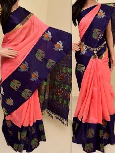 Innovative Peach Color Soft Silk Saree - sd768