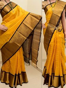 modern Yellow Color Soft Silk Saree - sd869