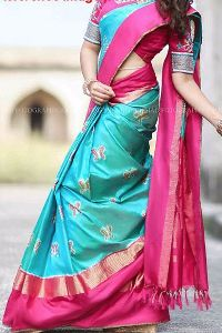 Pink Colored Soft Silk printed Saree SD188