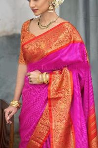 Pink partywear Colored soft silk prineted sarees _SD162