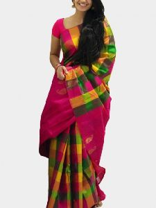 Soft Silk multi color Printed Saree - SD627