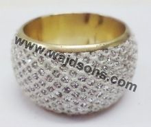 Silver Plated Hammered Napkin Ring