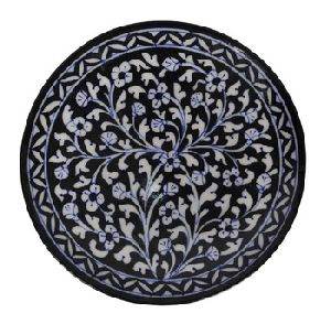 Blue Pottery Ceramic Serving Plate
