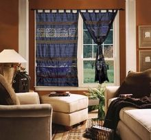 Multi Color Handmade Indian Silk Brocade Curtains