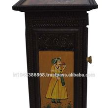 Wooden Handicraft Cabinet Side Table