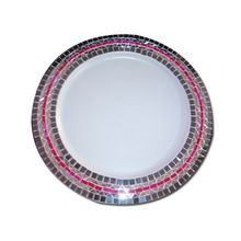 Mirror pattern charger plate