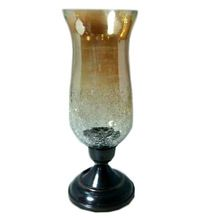 Metal Candle Hurricane Table Lamp Glass