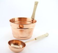 Copper Sauna Bucket With Laddle