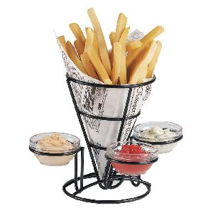 Wire Metal French Fry Cone