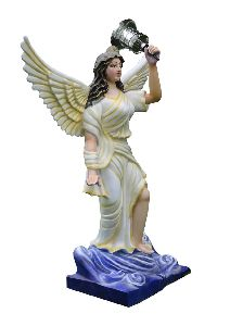 Fairy Standing Statue With Holding Led Gardan Lamp