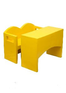 Yellow Flawless Desk & Bench