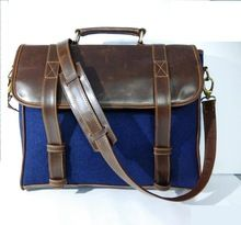 Vintage Style Leather Laptop Bag