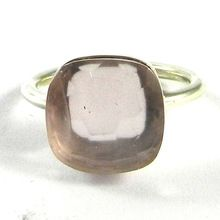 rose chalcedony silver ring