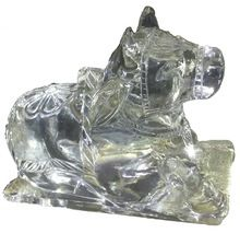 Beautiful handcrafted crystal animal carved
