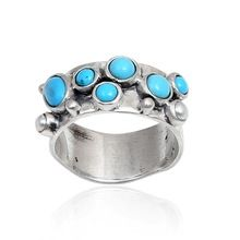 Sterling Silver Ring Dyed Turquoise Pearl Ring