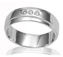 zircon 925 sterling silver band ring