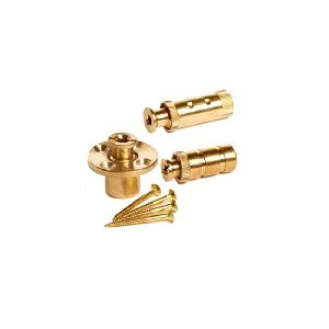 Brass Slotted Knurled Drop Anchors