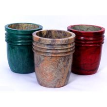 Stone Planter and Pots