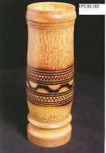Carved Bamboo cups jars