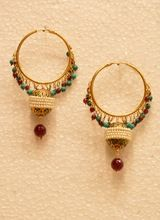 Bali earrings with pearl and drops