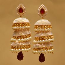 designer jhumka with pearls