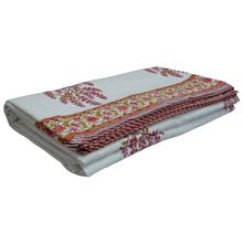 Cotton hand block printed blanket