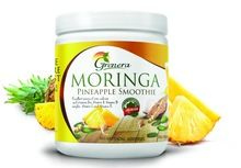 Moringa Powder Blended With Mango Smoothie