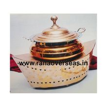 Boat Style Copper Chafing Dish.