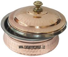 Copper Stainless Steel Casserole Dish with Lid