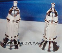 Silver Plated Brass Metal Salt