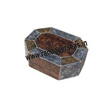 Wooden Antique Hexagon Jewellery Box