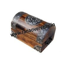 Wooden Antique Oval Shape Jewellery Box